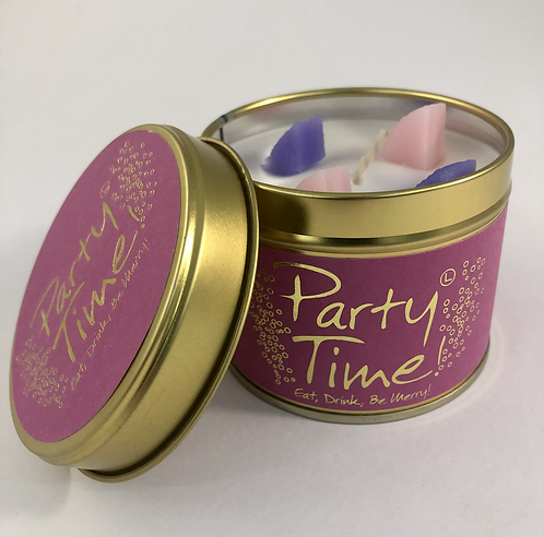 Lily Flame Scented Candle tin, Party Time