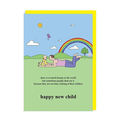 Happy New Child Card by Chris (Simpsons artist)