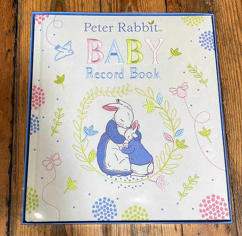 Peter Rabbit Embroidered Baby Record Book