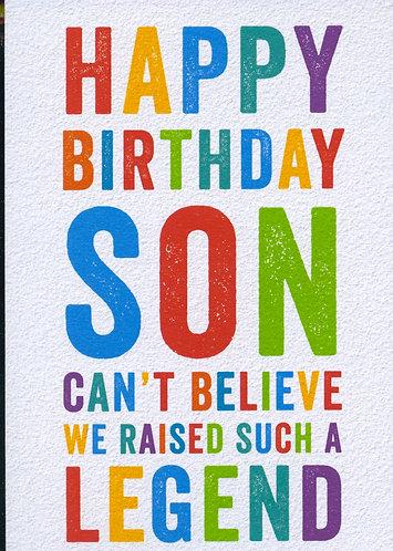 Happy Birthday Son. Legend.