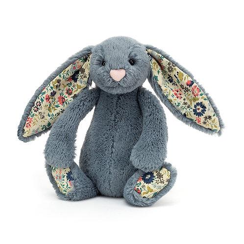Jellycat Dusky Blue Medium Rabbit with Liberty Print Ears