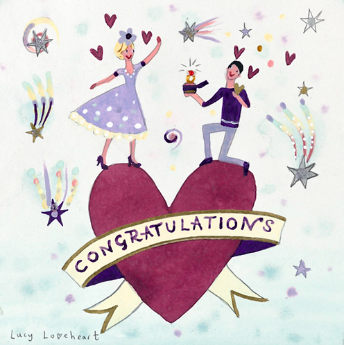 Lucy Loveheart Engagement Card