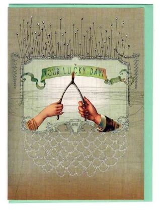 Your Lucky Day! Wishbone Card