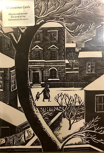 10 Christmas Cards. London Snow.