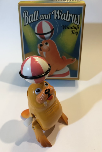 Ball and Walrus windup Toy