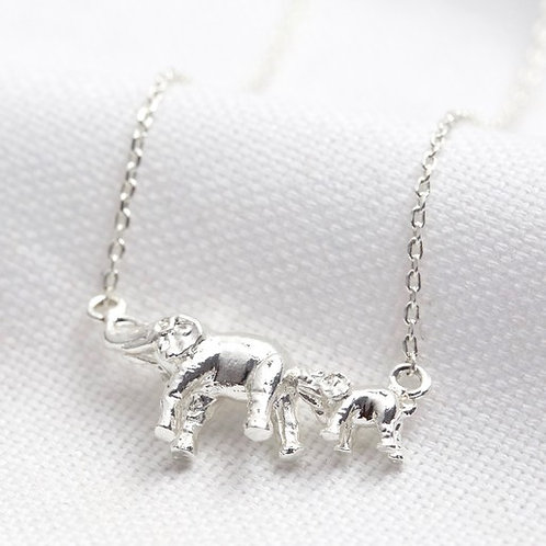 Mother & Baby Elephant Necklace