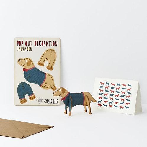 Pop-Out Labrador Card