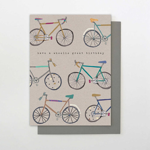 Have a wheelie great birthday card