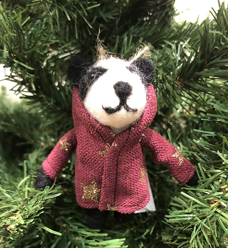 Felt Badger in Duffle Coat