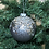Thumbnail: Pewter Coloured Glass Baubles With Beads