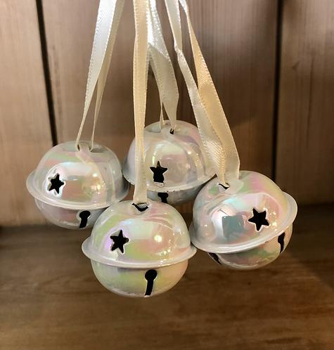 Set of 4 Opalescent metal bells