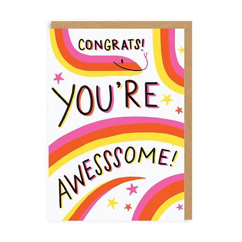 You're Awesssome! Card