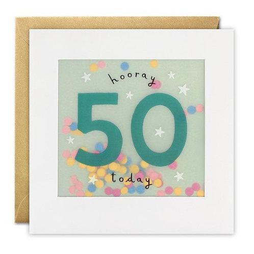Hooray 50 Today Card
