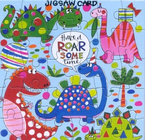 Roarsome Jigsaw Card