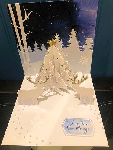 Christmas Card Treasures Pop-Up White Deer