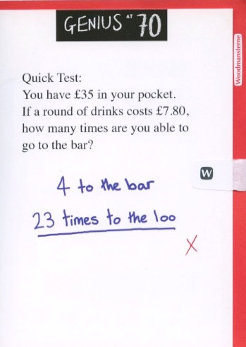 Quick test 70.