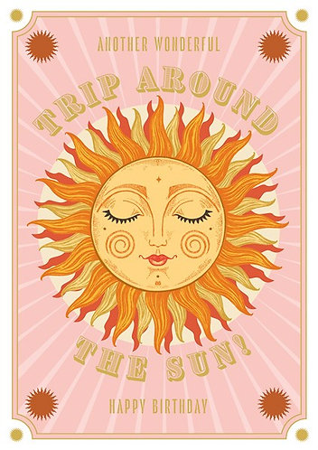 Trip Around The Sun Birthday Card