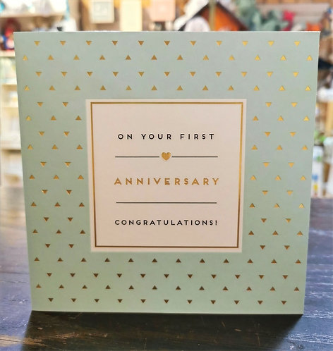 On Your First Anniversary Card