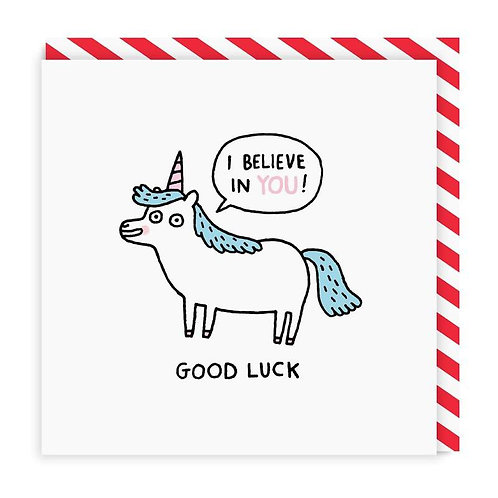 Good Luck Unicorn Card