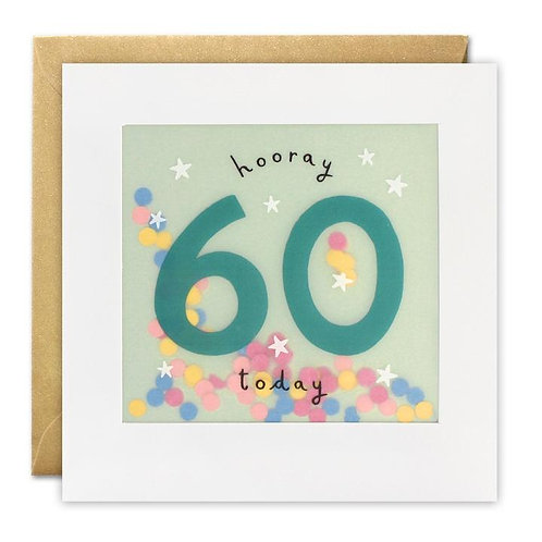 Hooray 60 Today Card