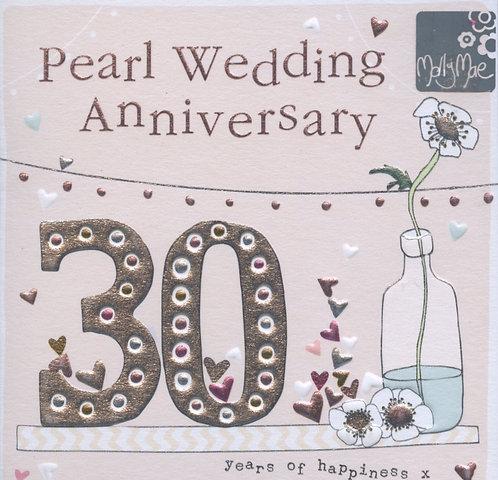 Pearl Wedding Anniversary.
