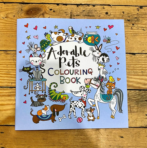Adorable Pets Kids Colouring book
