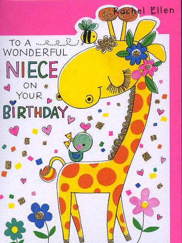Niece on your birthday.