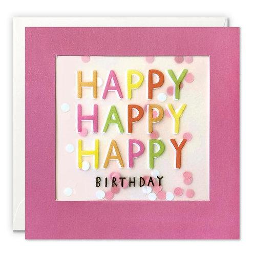 Happy Happy Happy Birthday Card