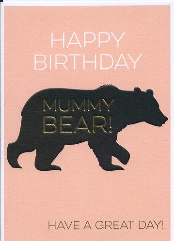 Mummy Bear, Happy Birthday.