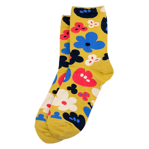 Bold Block Flower Socks