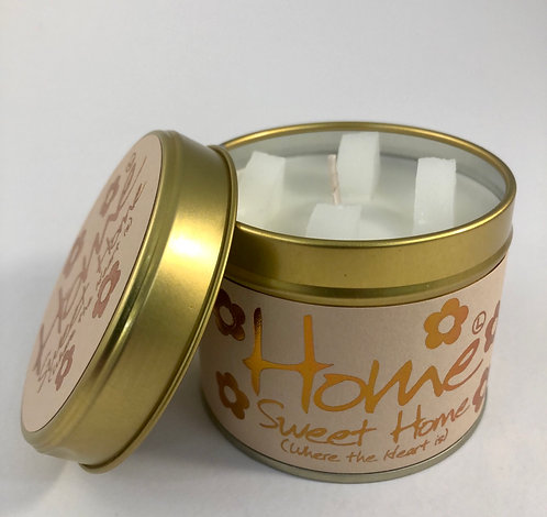 Lily Flame Scented Candle tin, Home Sweet Home.