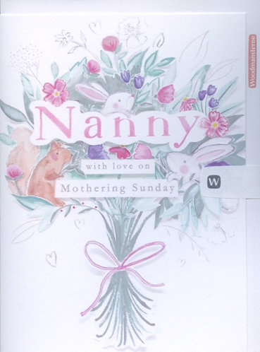 Nanny with love on Mothering Sunday.