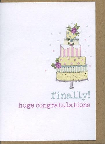 Finally, Huge Congratulations.