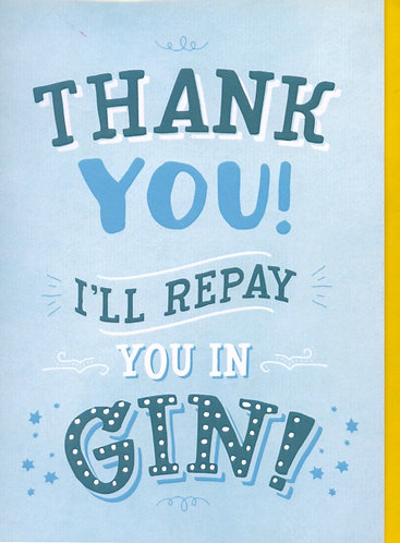 Thank You in Gin.