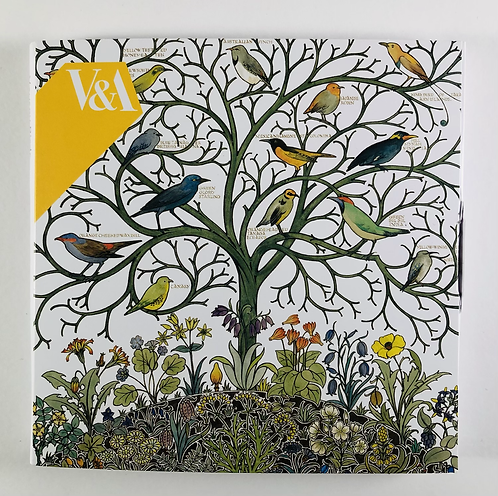 8 Notecards, Voysey Birds.