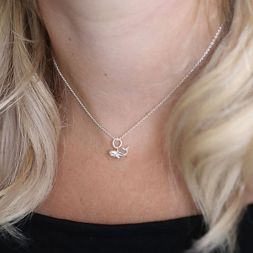 Sterling Silver Tiny Whale Necklace