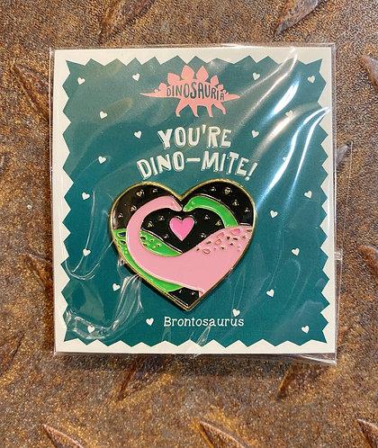 Dinosaur Pin Badge Dino-Mite