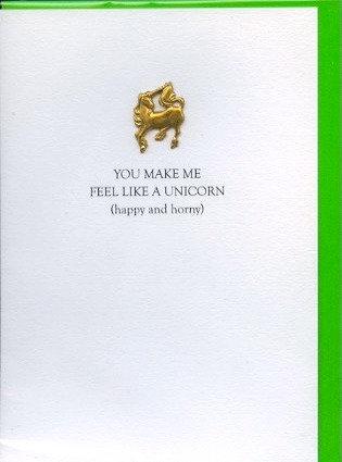 You make me feel like a unicorn. (Happy and Horny)