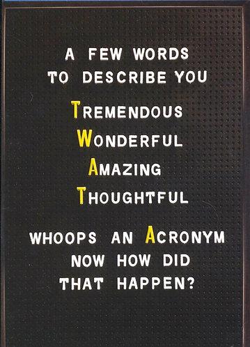 A Few Words