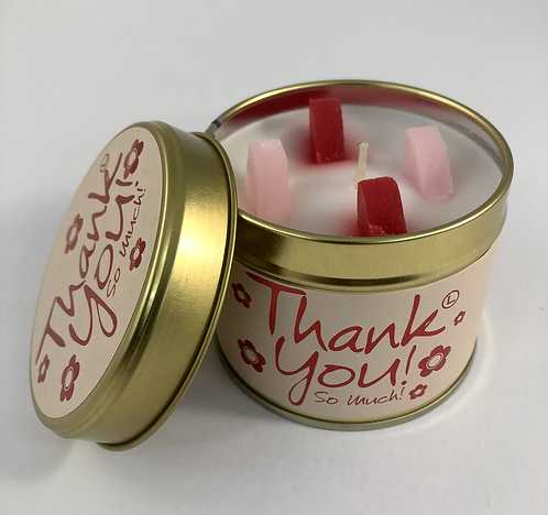 Lily Flame Scented Candle tin. Thank You.