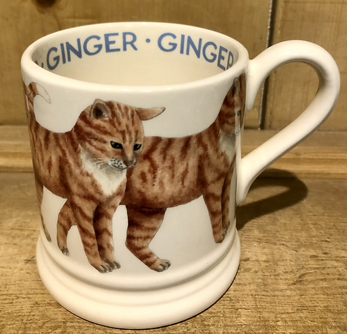 Ginger Cat half pint mug.