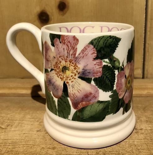 Dog Rose half pint mug.