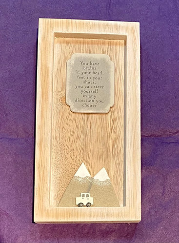 Wooden Keepsake Positive Thoughts Go Forward