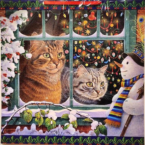 Advent Calendar Snowy Christmas Cats
