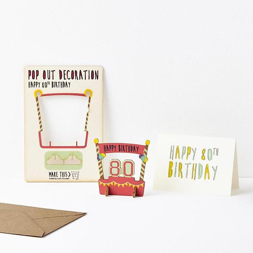 Pop-Out 80th Birthday Card