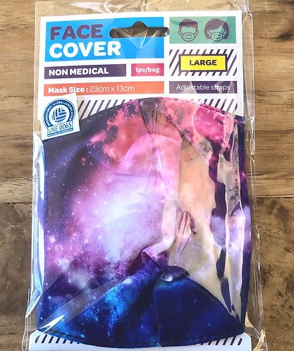 Face Covering Universe design. Large size.