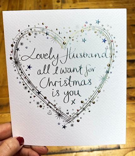 Christmas Card Husband All I Want