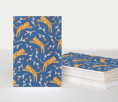 Tiger Notecards Pack of 10