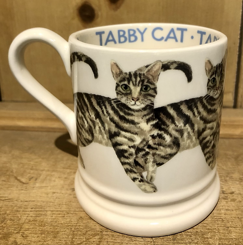 Tabby Cat half pint mug.