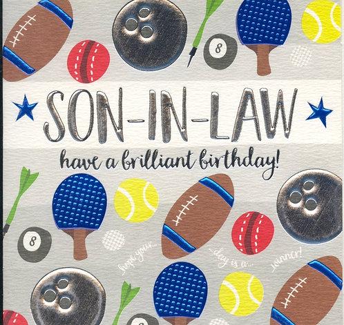 Son in Law, Brilliant Birthday.
